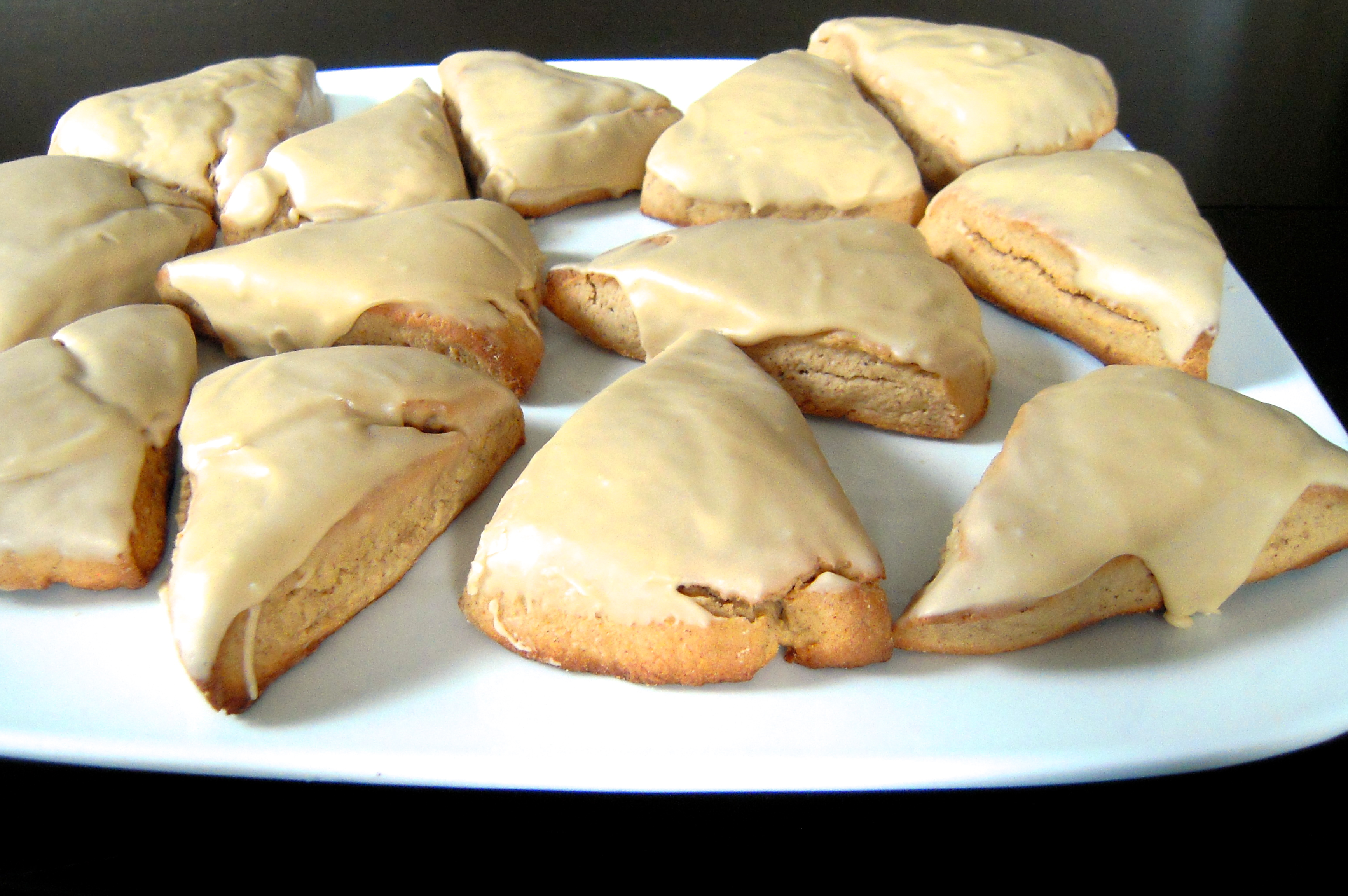 Cinnamon Scones with Maple Frosting