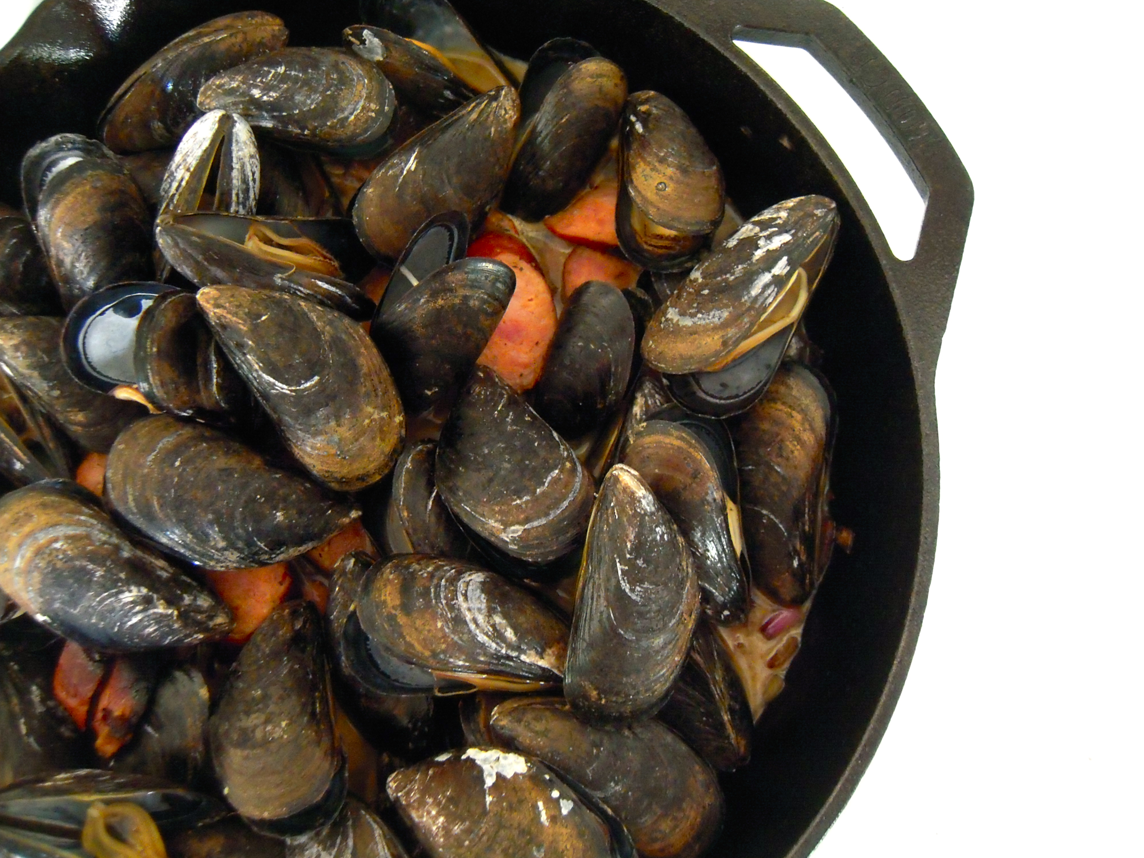 Mussels with Andouille Sausage