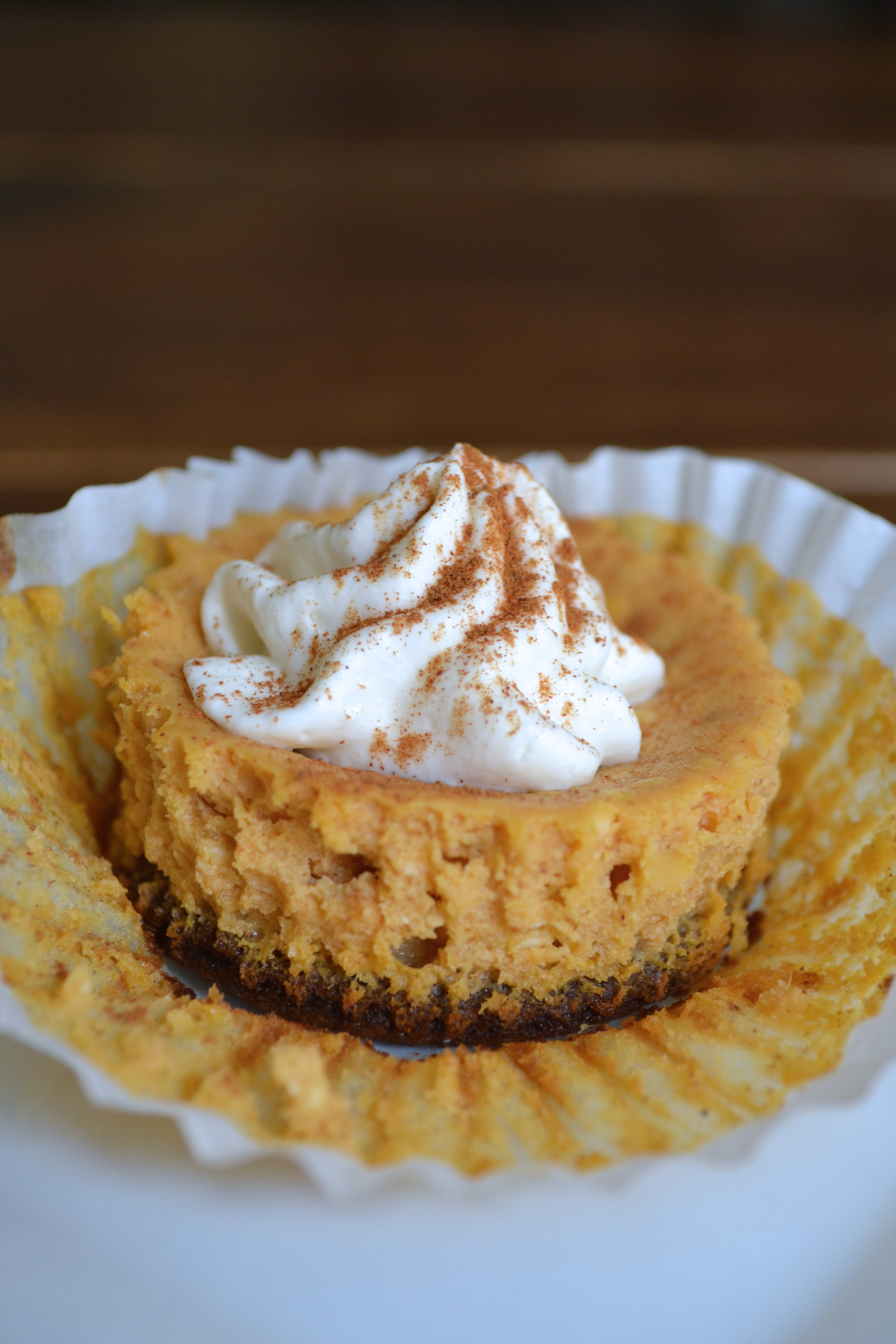 Mini Pumpkin Cheesecakes With Gingersnap Crust The